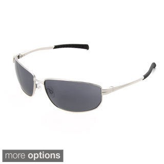Hot Optix Men's Rectangular Sport Metal Wrap Sunglasses