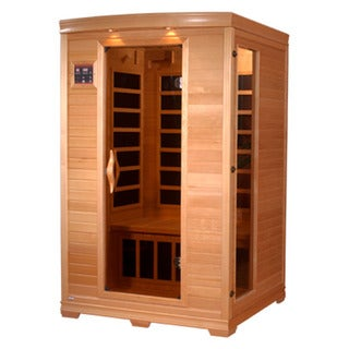 GDI Luxury GDI-6202-03 2-person Far Infrared Carbon Natural Hemlock Wood Sauna