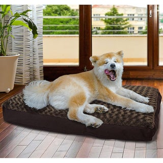 Furhaven Ultra Plush Deluxe Pillow Pet Bed