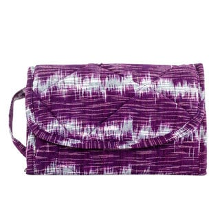 Handcrafted Cotton 'Amethyst Twilight' Wristlet Bag (Guatemala)
