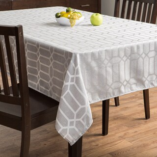 Glimmer Silver Tablecloth