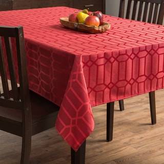 Glimmer Red Tablecloth