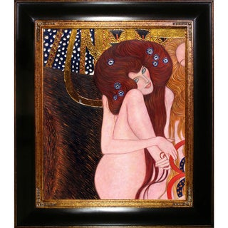 Gustav Klimt Beethoven Frieze (Luxury Line) Hand Painted Framed Canvas Art