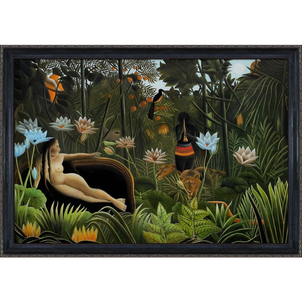 Henri Rousseau The Dream Hand Painted Framed Canvas Art