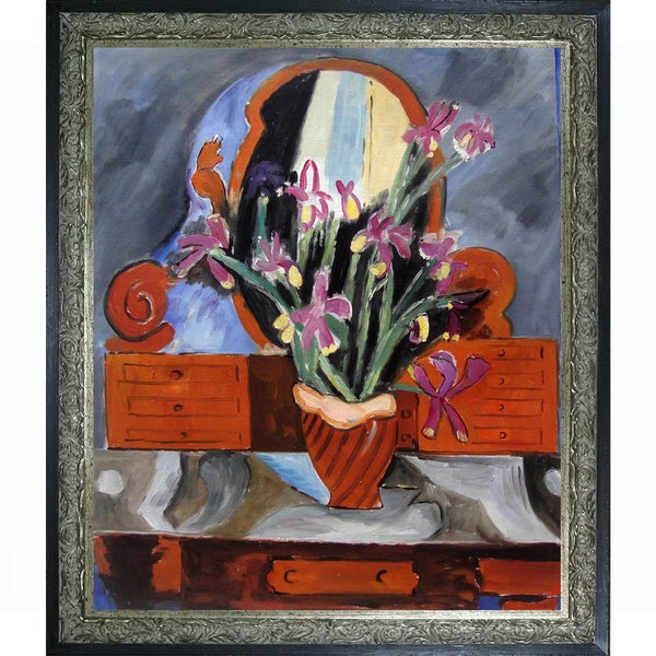 Henri Matisse Vase with Iris Hand Painted Framed Canvas Art