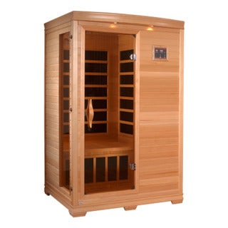 GDI HD Edition 2-person Far Infrared Carbon Hemlock Wood Sauna