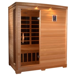 GDI HD Edition 3-person Far Infrared Carbon Hemlock Wood Sauna