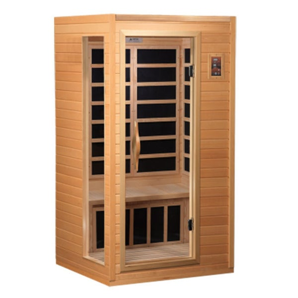 GDI HD Edition 1 to 2-person Far Infrared Carbon Hemlock Wood Sauna