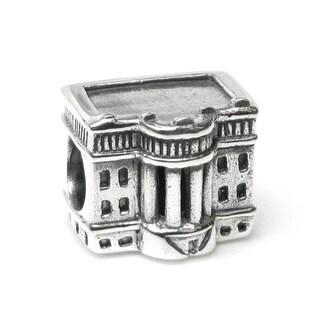Queenberry Sterling Silver America Usa President White House Patriotic Landmark Travel European Bead Charm