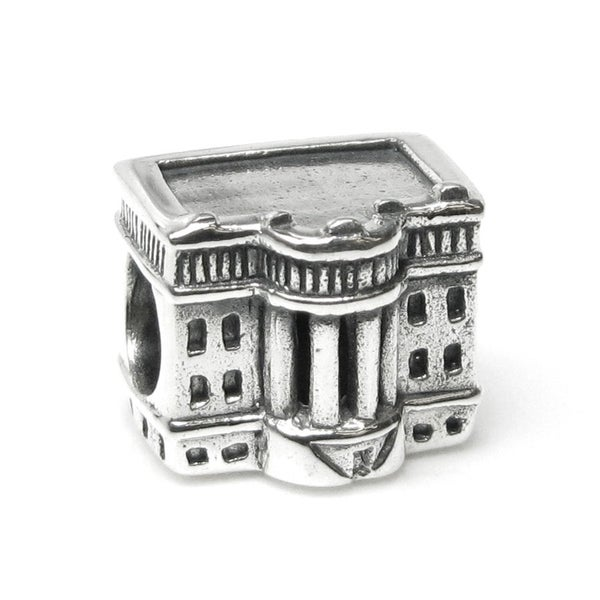 Queenberry Sterling Silver America Usa President White House Patriotic Landmark Travel European Bead Charm