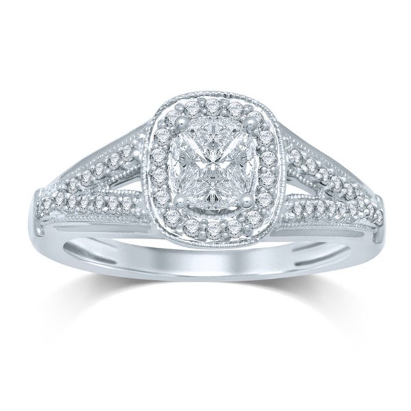 14k White Gold 1/2ct TDW Diamond Engagment Ring