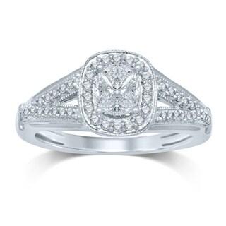 14k White Gold 1/2ct TDW Diamond Engagment Ring