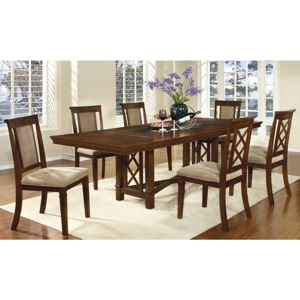 Bartlet X Design Distressed Walnut Dining Set