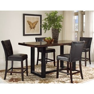 Mahogany Two-tone Vintage Counter Height Dining Set