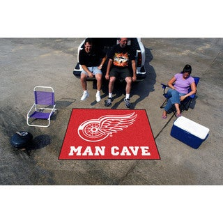 Fanmats Machine-Made Detroit Red Wings Red Nylon Man Cave Tailgater Mat (5' x 6')