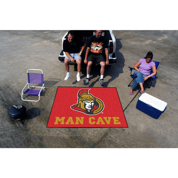 Fanmats Machine-Made Ottawa Senators Red Nylon Man Cave Tailgater Mat (5' x 6')