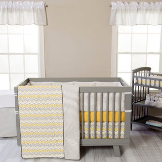 Trend Lab Buttercup Zigzag 3-piece Crib Bedding Set