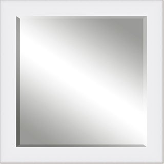Framed Beveled Mirror- White