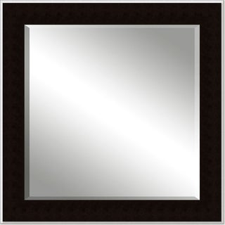 Framed Beveled Mirror- Dark Espresso