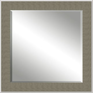 Framed Beveled Mirror- Silver