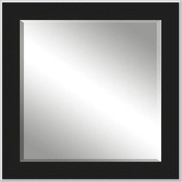 Framed Beveled Mirror- Black