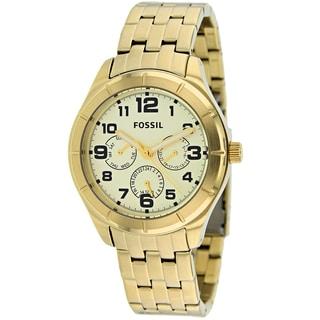 Fossil Women's BQ1409 Classic Round Goldtone Bracelet Watch