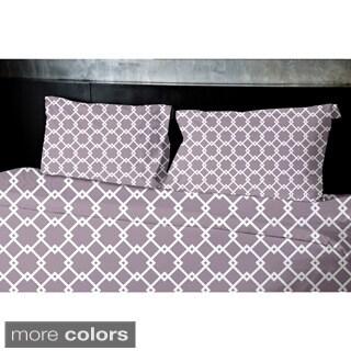 (68x88) Blue, Teal, Aqua, Coral, Light Purple Twin Geometrics Printed Duvet Cover
