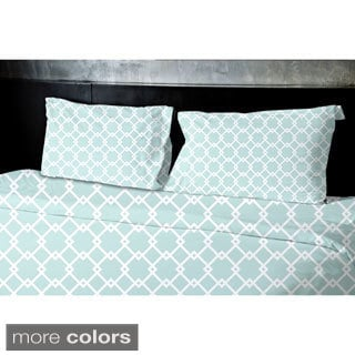 (68x92) Blue, Teal, Aqua, Coral, Light Purple Twin XL Geometrics Printed Duvet Cover