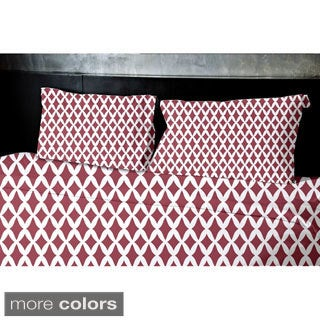 Navy Blue, Dark Green, Grey, Coral, Rust Full/ Queen Geometrics Printed Full/ Queen Duvet Cover