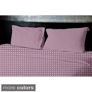 Light Blue, Aqua, Dark Grey, Rust, Purple Geometrics Printed Twin Duvet Cover