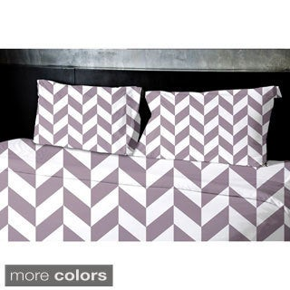(88x88) Light Blue, Aqua, Grey, Light Purple, Taupe Queen Geometrics Printed Duvet Cover