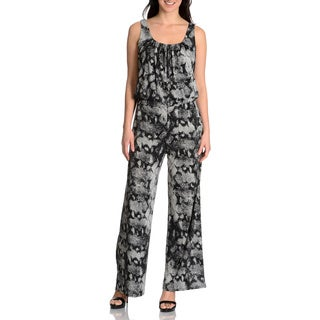Chelsea & Theodore Women's snake printed jumpsuit