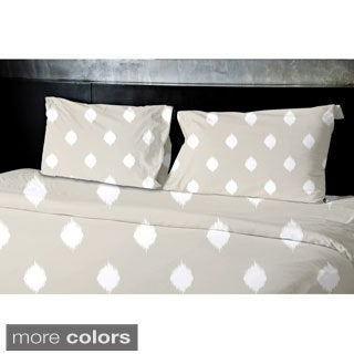 (88x88) Light Blue, Grey, Coral, Taupe Queen Geometrics Printed Duvet Cover