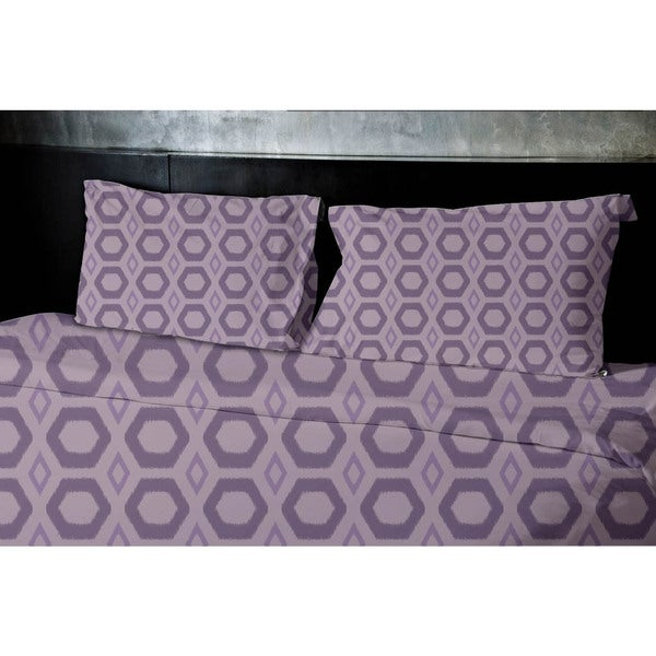 (104x88) White King Geometrics Printed Duvet Cover