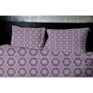 (68x88) White Twin Geometrics Printed Duvet Cover