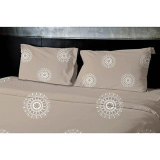 Grey, Taupe Geometrics Printed Twin Duvet Cover
