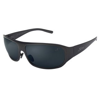 Xezo Men's Incognito Titanium Polarized Wrap Sunglasses