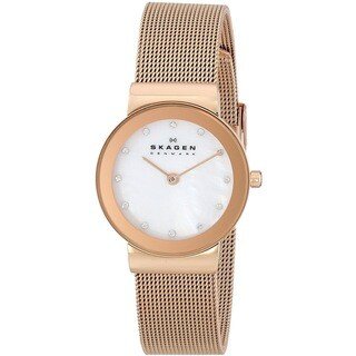 Skagen Women's 358SRRD Freja Quartz Stainless Steel Rose Gold Watch