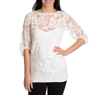 Chelsea & Theodore Women's Lace Top with Cami