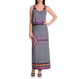 Chelsea & Theodore Women's printed popover maxi dress