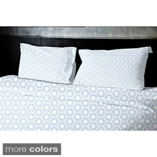 (68x92) Light Blue, Light Green, Grey, Light Purple, Taupe Twin XL Geometrics Printed Duvet Cover