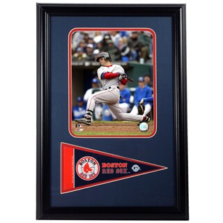 MLB Boston Red Sox Dustin Pedroia 12X18 Pennant Frame