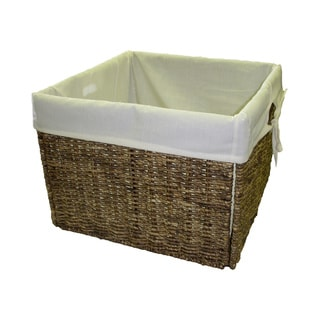 Handcrafted Woven Maize Storage Baskets with Liners (Set of 6)