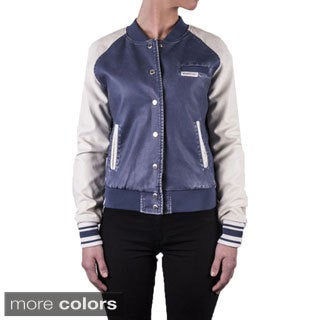 Members Only Women's Washed Varsity Jacket