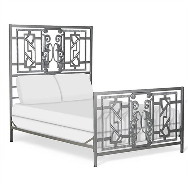 wrought iron king bed frame