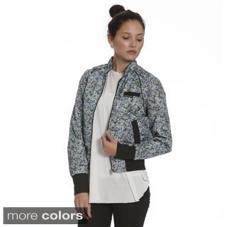 Members Only Women's Floral Nylon Bomber Jacket