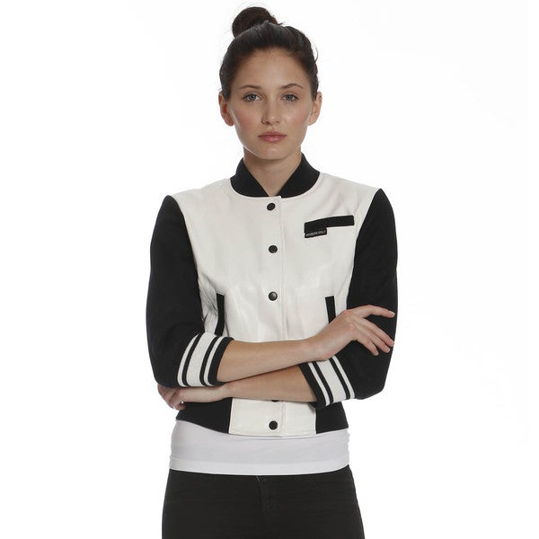 Members Only Women's Cropped Varsity Jacket