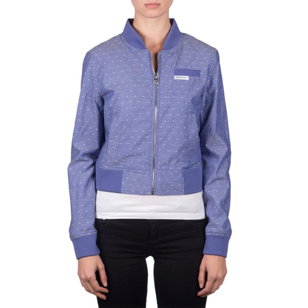 Members Only Women's Polka Dot Bomber Jacket