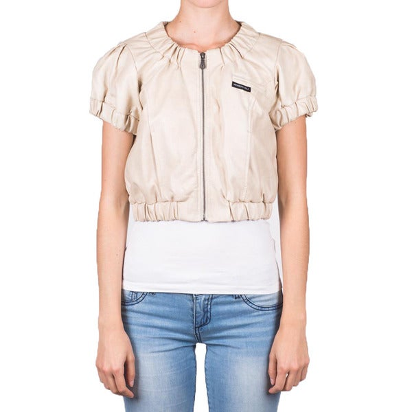 Members Only Women's Spring Faux Leather Jacket