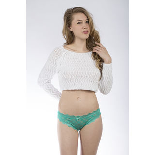 Hers by Herman Women's Green Lace Thong (Set of 2)